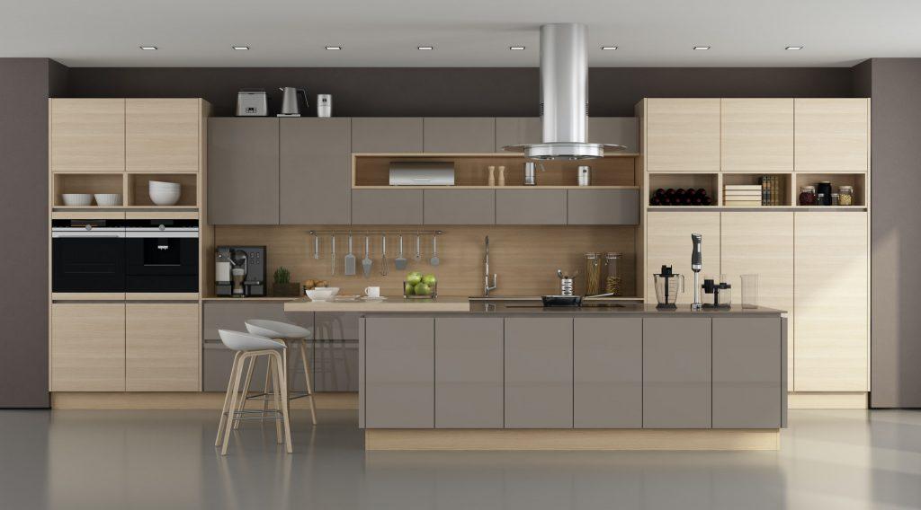 Noticias Muebles decoración Wooden and brown modern kitchen